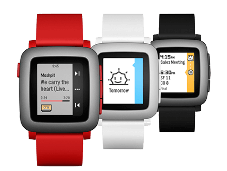 Pebble Time - Üç renk